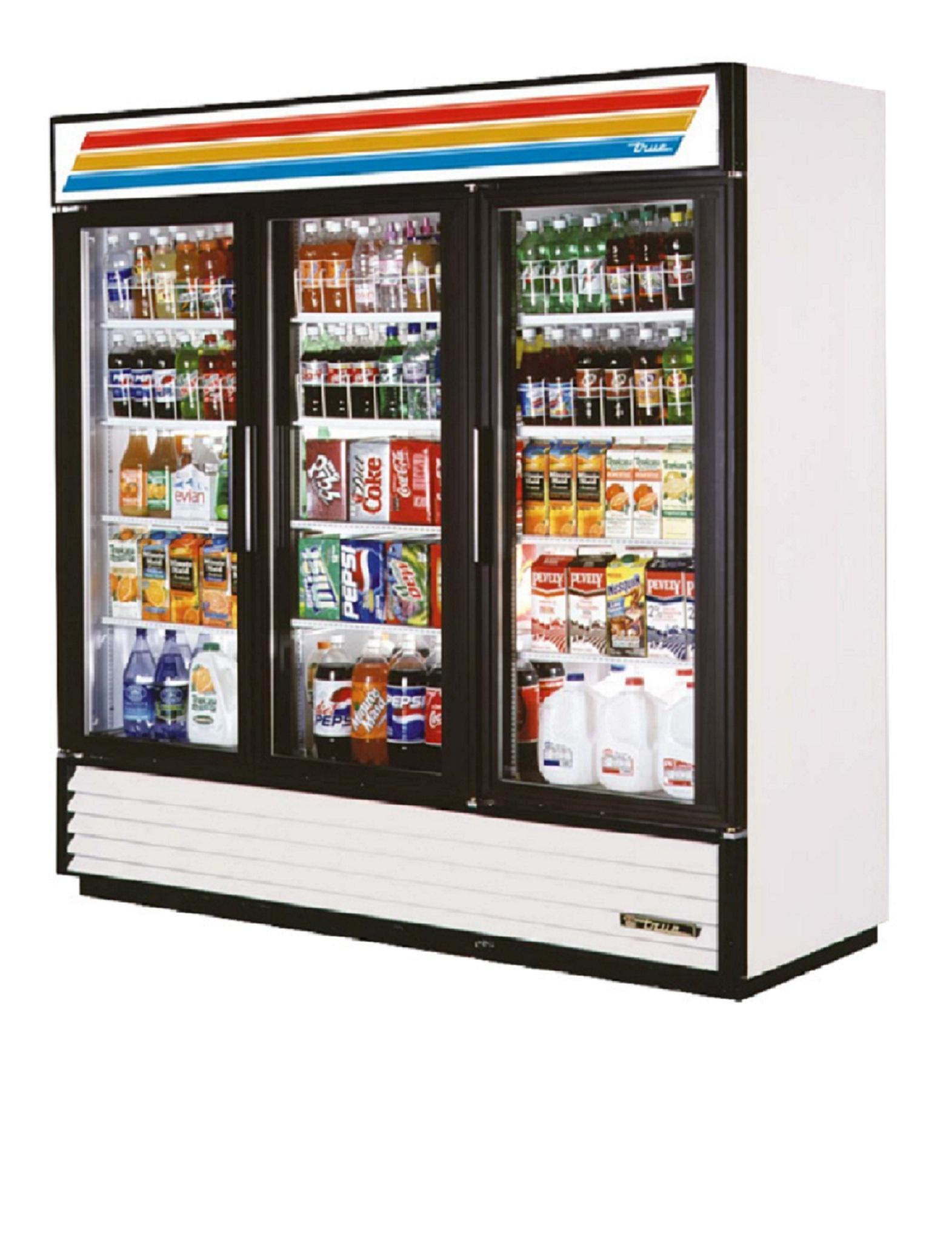 Coolers 3 Doors 2 Doors Glass Door Cooler True Beverage Air