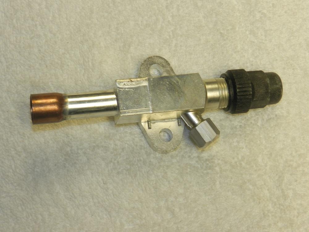 Suction service valve