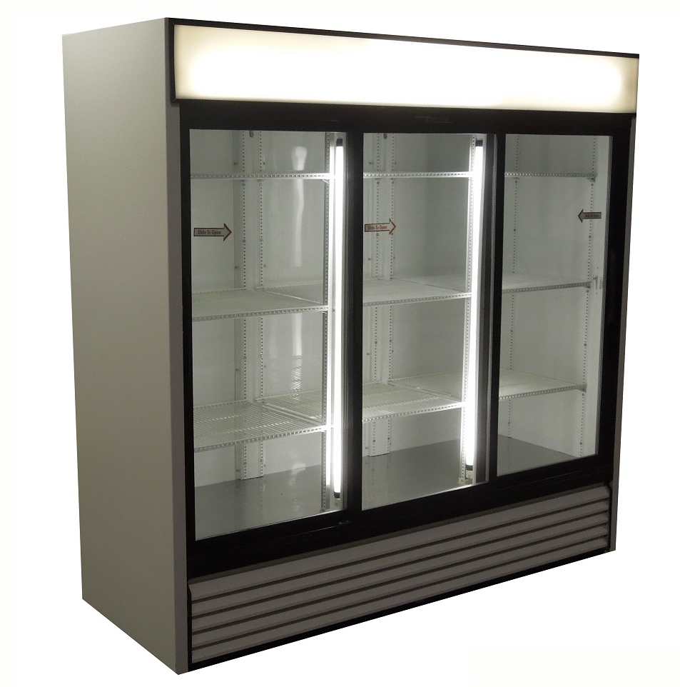 Used Three Door Cooler With Sliding Doors